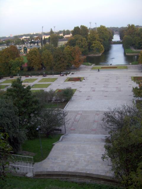 View from zamek ujazdowski