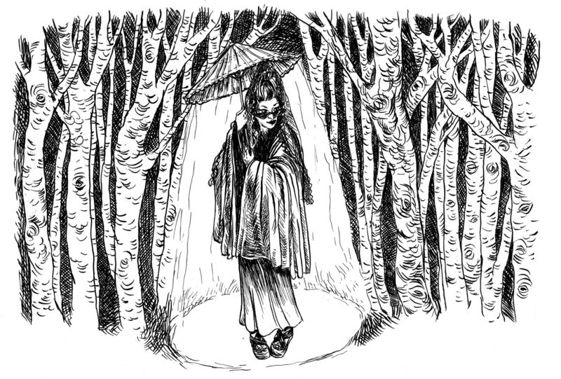 NnDiane in the woods