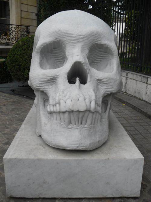 Skull on champs elysee