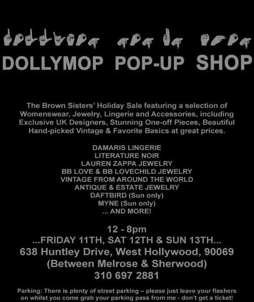 Dollymop pop up shop