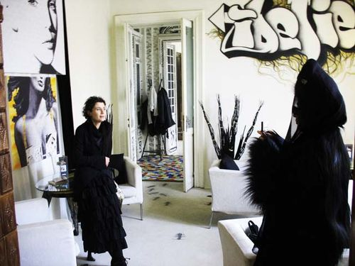 NDiane Pernet and designer Silvia Serban at Idelier, Bucharest Calling copy