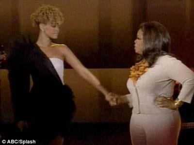 Rihanna in Viktor & ROlf Ophra Winfrey