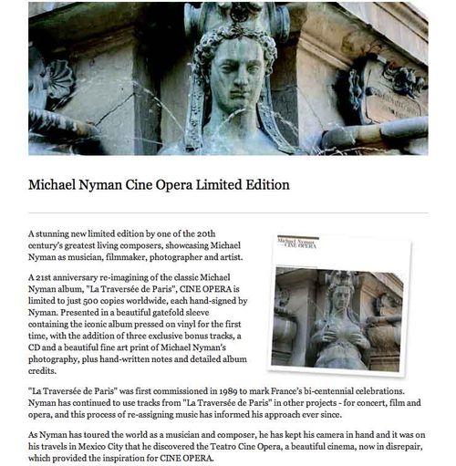 Michael nyman la traversee