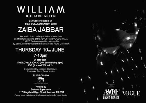 WILLIAM&ZAIBA FILM INVITE