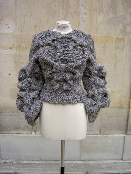 SB022 Silk Ribbon Hand Knit Jacket