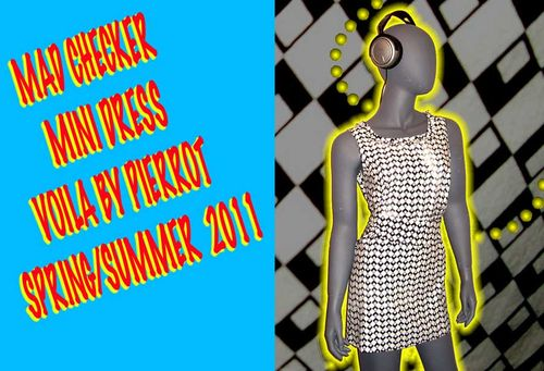 Mad checker mini dress