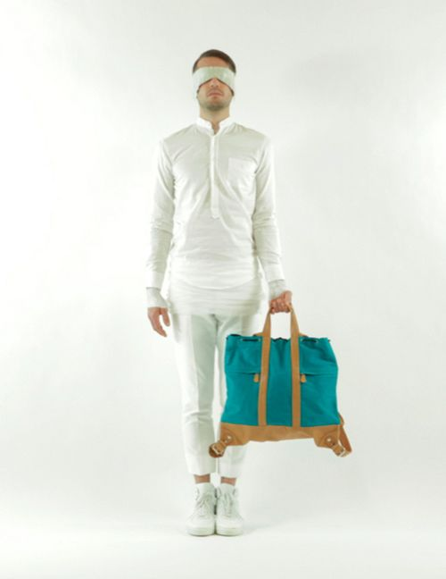 HADJIO men's canvas bag white 08