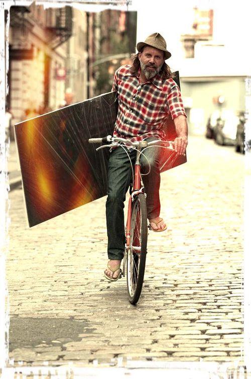 Sonny on bike