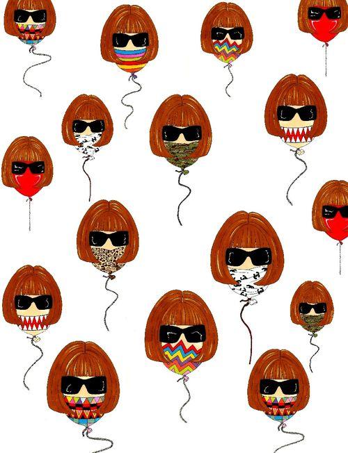 Anna Wintour Baloon allover Humor C