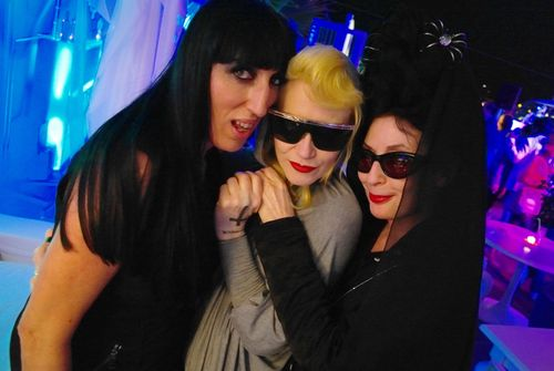 NetASVOFF at Cannes 11_Rossy de Palma and Pam Hogg my DJ's for the night photo Konstantinos Menelaou