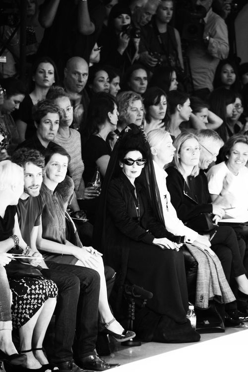 Diane pernet at DRIES VAN NOTEN photo by filep motwary _8179