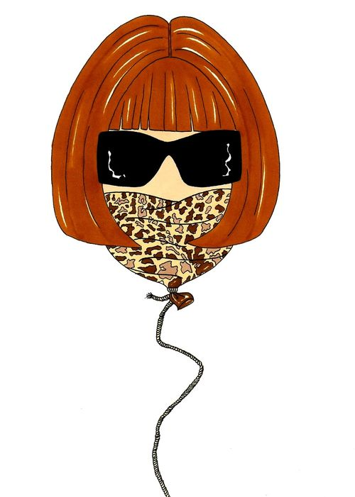 Anna Wintour Baloon Humor Chic by a(8)