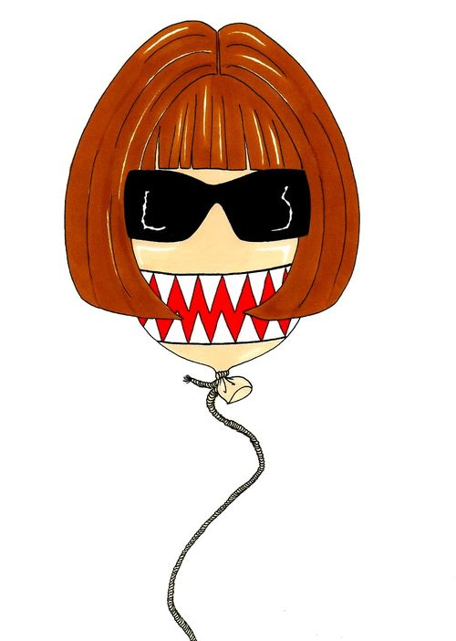 Anna Wintour Baloon Humor Chic by a(2)