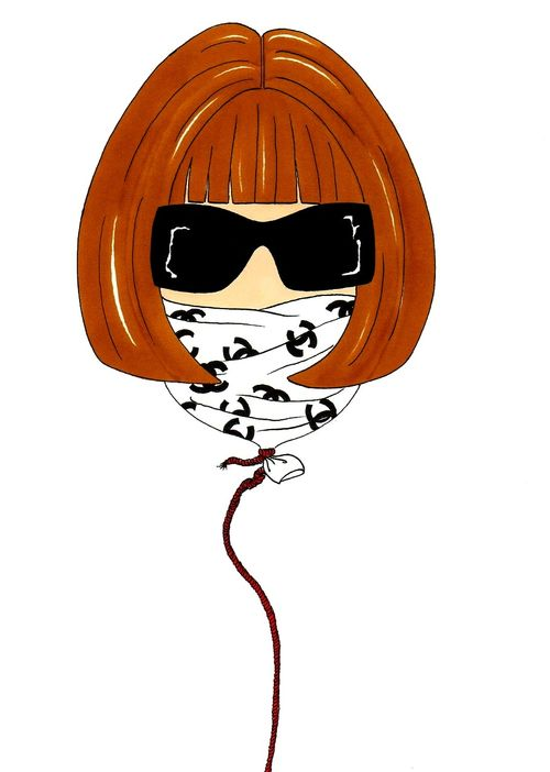 Anna Wintour Baloon Humor Chic by a(7)