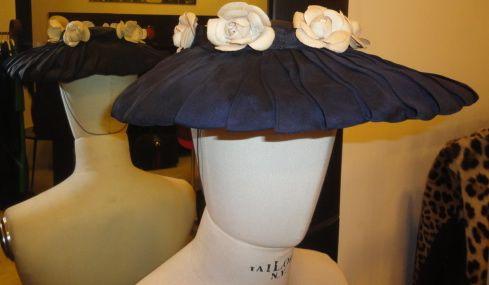 JACQUES FATH 50's silk hat