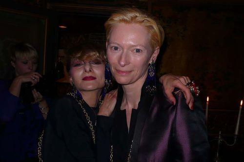 NCatherine Baba and Tilda Swinton