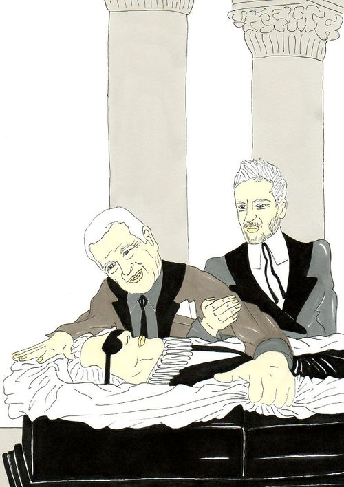 31 Karl Lagerfeld, Vision of a funeral Marc Jacobs and Mario Testino  Humor Chic by aleXsandro Palombo