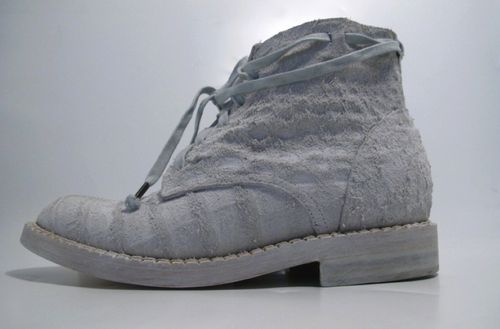 RAW CROCODILE SUEDE  ANKLE BOOT with PLATFORM