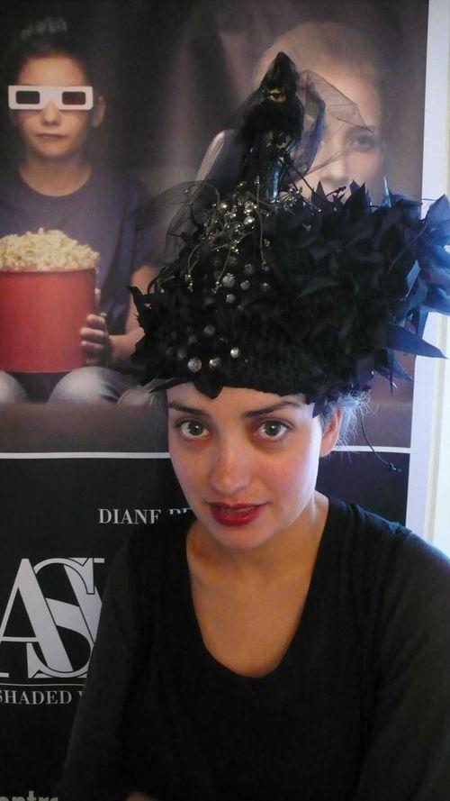NAmira wearing Larrain DP hat