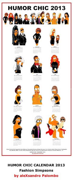 Humor chic calendar by aleXsandro Palombo