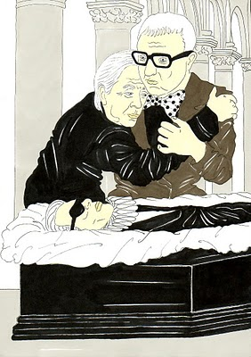 24 Karl Lagerfeld, Vision of a funeral Valentino Garavani and Alber Elbaz Humor Chic by aleXsandro Palombo