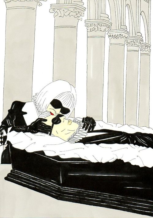 25 Karl Lagerfeld, Vision of a funeral Anna Wintour  Humor Chic by aleXsandro Palombo