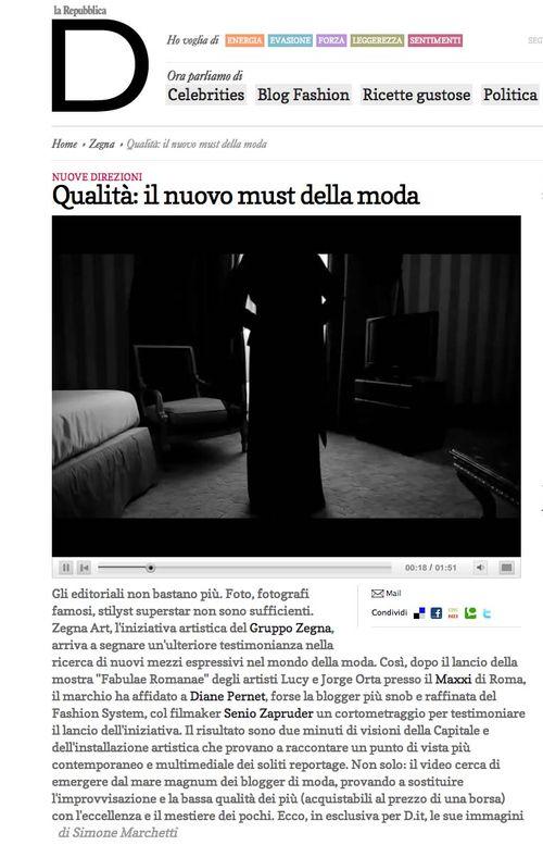 La Repubblica D Zegna Art by Senio Zapruder