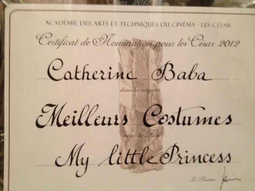 Certificat nomination catherine