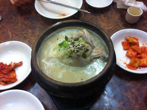 Sam gae tang - ginseng chicken soup