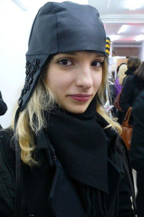 Silvia in black hat 1