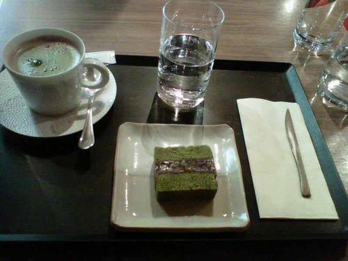 Green tea and hot chocolate