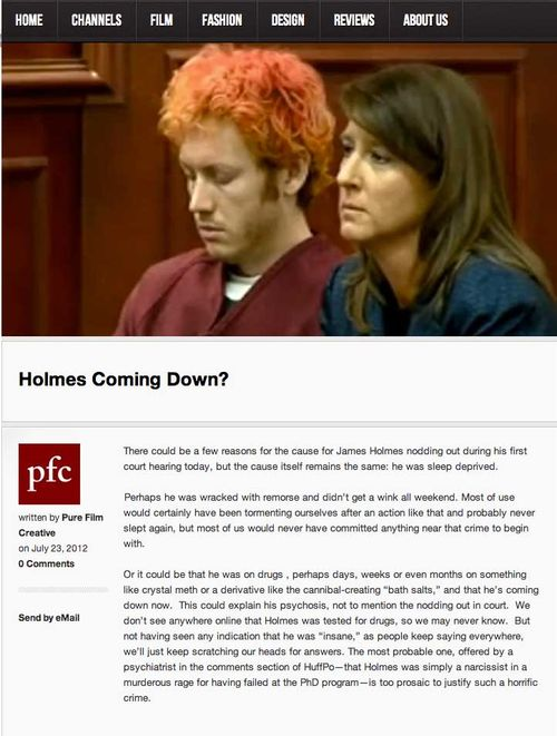 Holmes coming down
