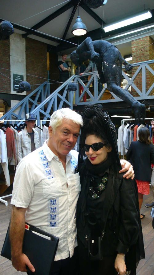 Tim blanks and DP at London show rooms