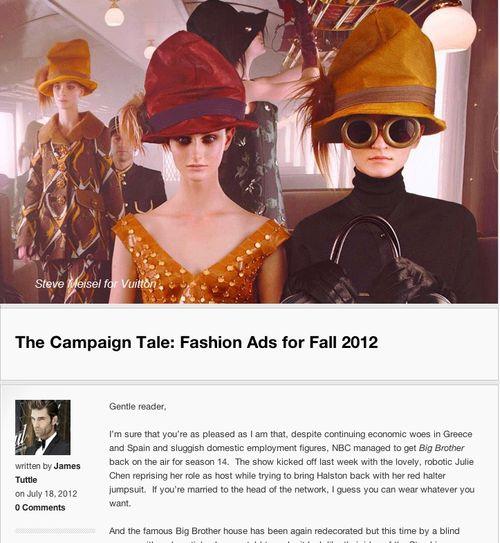 James tuttle fashion ads