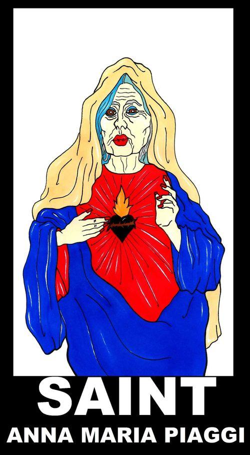Saint Anna Maria Piaggi Madonna Humor Chic by aleXsandro Palombo