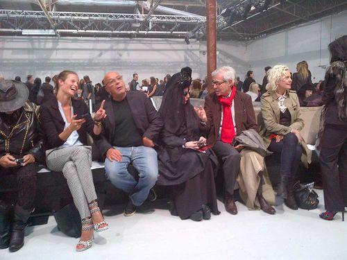 Front row Gareth by Christine de Lassus