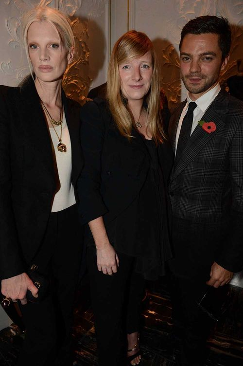 Kristen McMenamy, Sarah Burton & Dominic Cooper