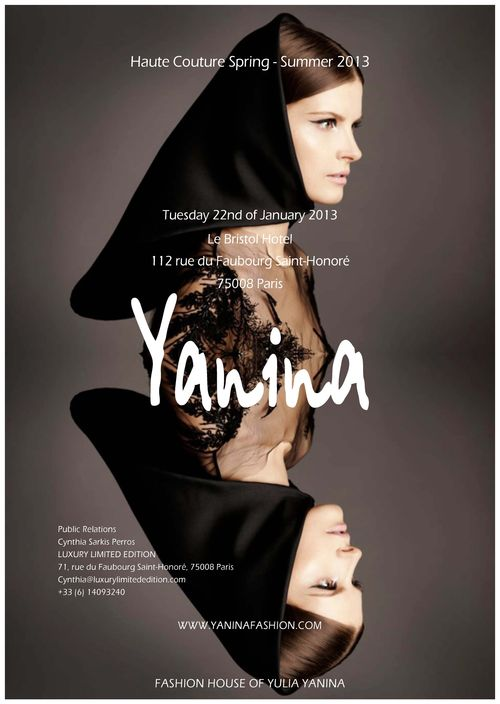 YULIA YANINA SAVE THE DATE- 22 JANUARY 2013