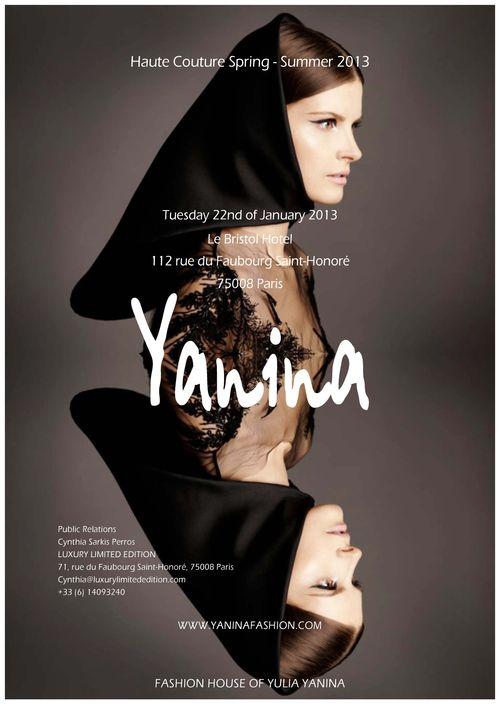 YULIA YANINA SAVE THE DATE- 22 JANUARY 2013
