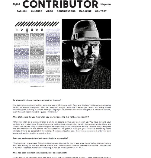 Philippe P on COntributor mag