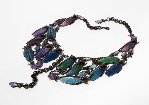 Vernissage AURORA BOREALIS low art 203 silver necklace