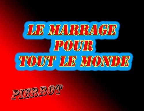 LE MARRAGE POUR TOUS