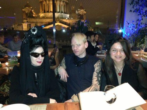 EK, Robb DP at dinner