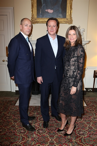Dylan Jones, Prime Minister David Cameron and Natalie Massenet  photos darren gerrish