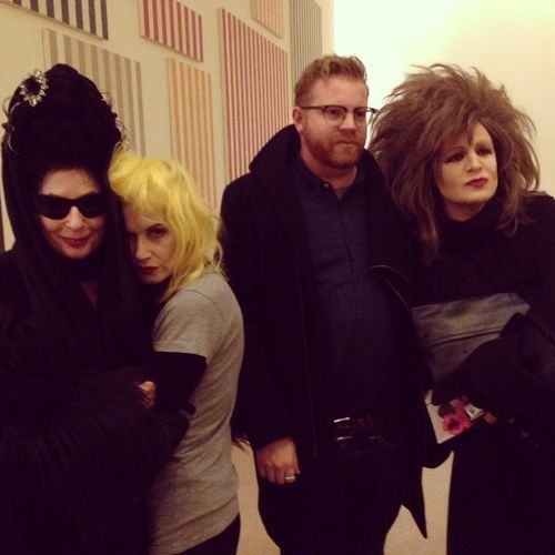 Group shot with Pam Hogg and Alexis