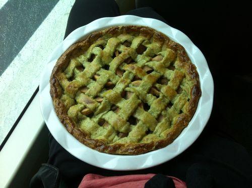 Macha pie in transit