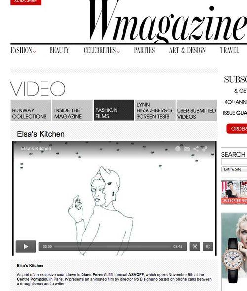 W Magazine  Elsa's Kitchen by Ivo Bisignano