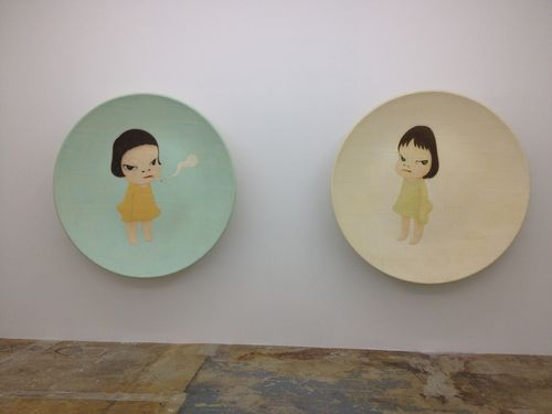 IMG_1757.JPG Yoshitomo Nara. Too Young To Die(left)Little Ramona(right).2001