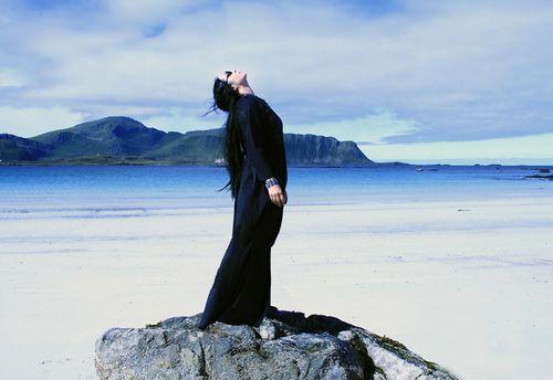 Ilenia corti at lofoten islands