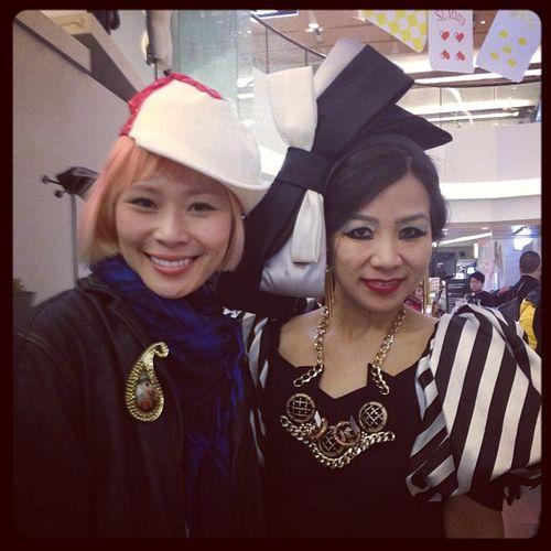 Joyce Chang with Mei Hui